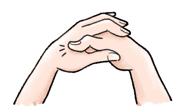 手の甲のマッサージ